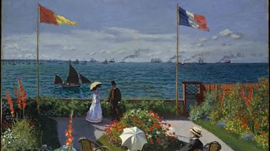 La terraza o jardín de Sainte-Adresse de Monet