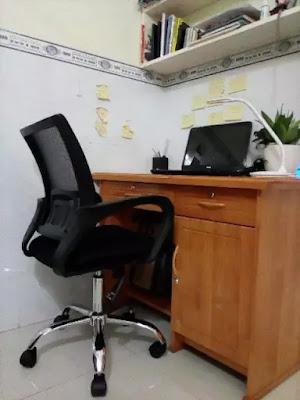 Ghế văn phòng GLMV1, Ghế văn phòng chân xoay, ghế văn phòng lưng lưới - 4