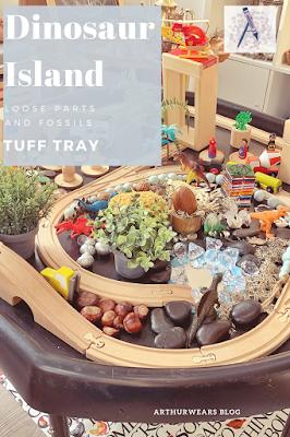 dinosaur island tuff tray PIN