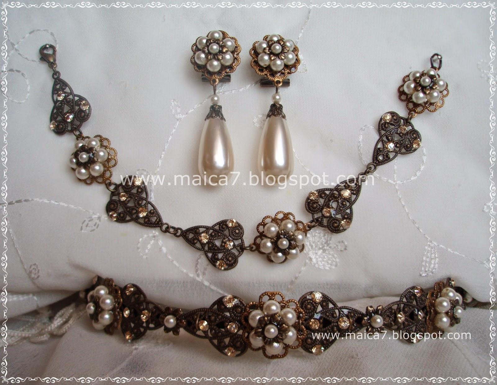 30c80ee4bd90 Espectacular conjunto para novia en oro viejo