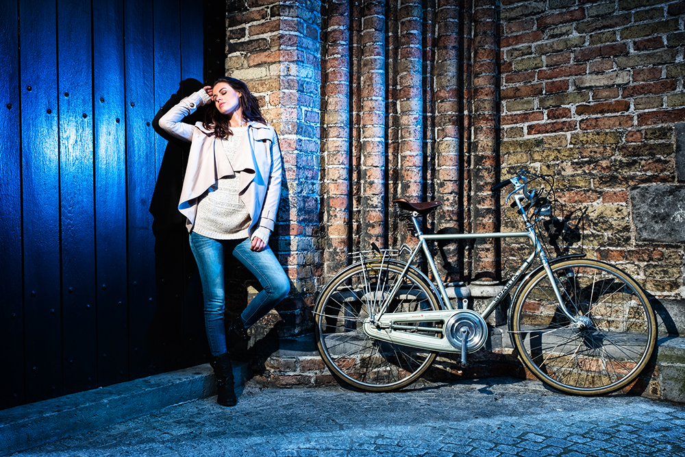 Fujifilm Xpro 2 editorial Urban fashion image in Bruges Belgium by Willie Kers