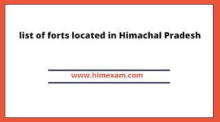 list of forts located in Himachal Pradesh