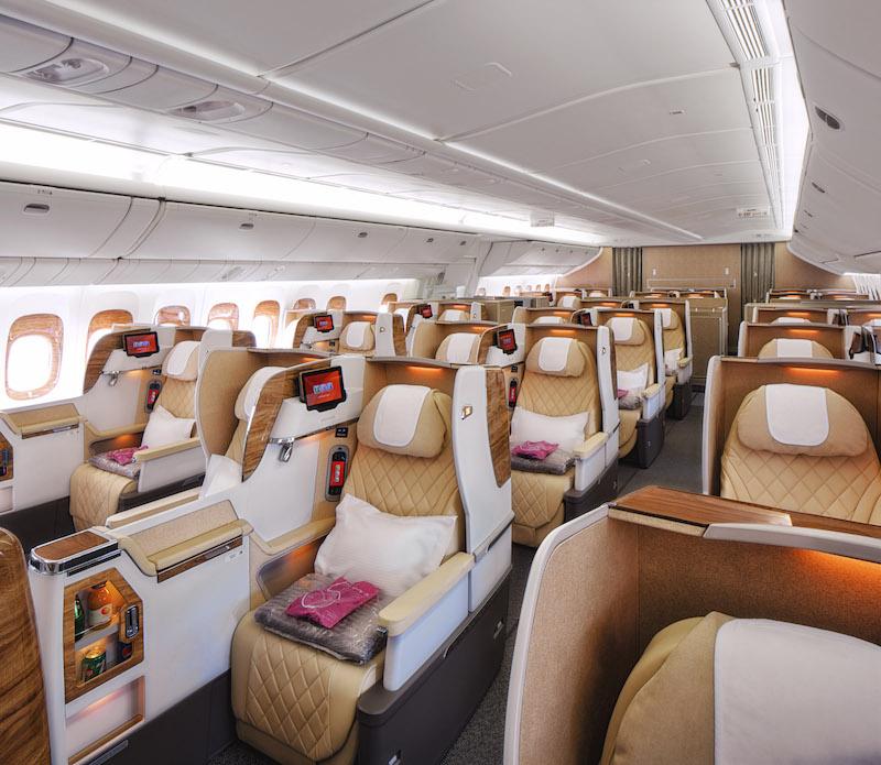 Emirates, Linie lotnicze, Business, Business Class, Boeing 777, Emirates jak wygląda klasa business, Emirates samoloty, fotele w klasie business