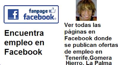 Páginas en Facebook Tenerife, en donde se publican ofertas de empleo