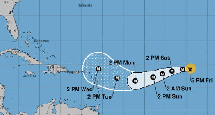 Onamet vigila trayectoria de huracán Irma; se adoptan medidas prevención