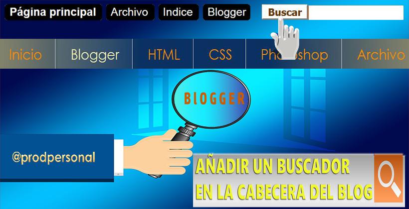 Añadir un buscador a la cabecera del blog