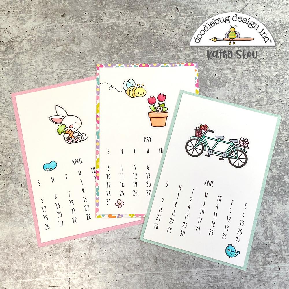 Doodlebug Design Inc Blog Doodle Stamped Desk Calendar With Kathy