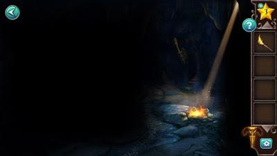 прогоняем мышку, разжигаем костер и поджигаем факел