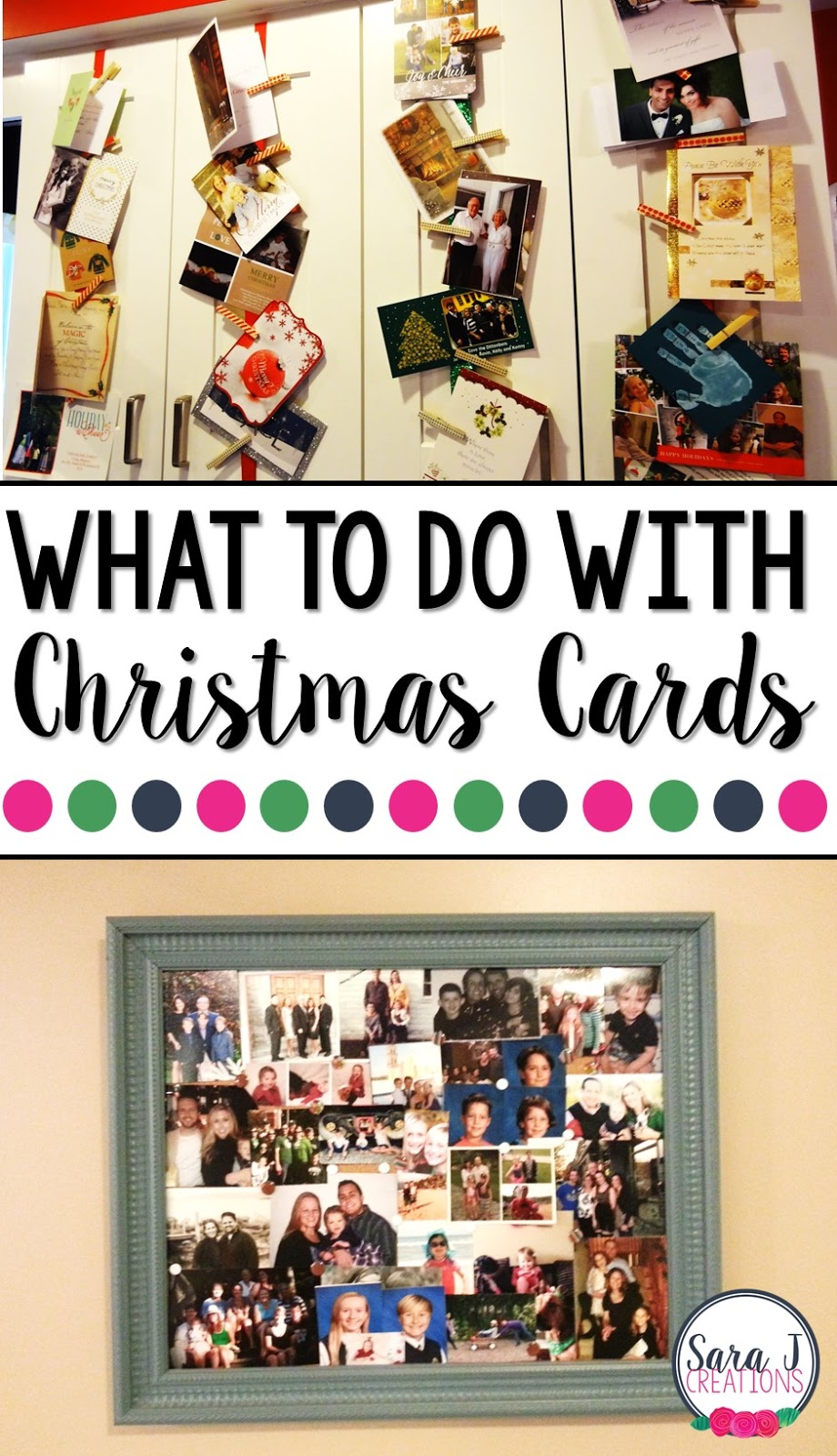 DIY ideas for what to do with your Christmas cards after the holiday has come and gone