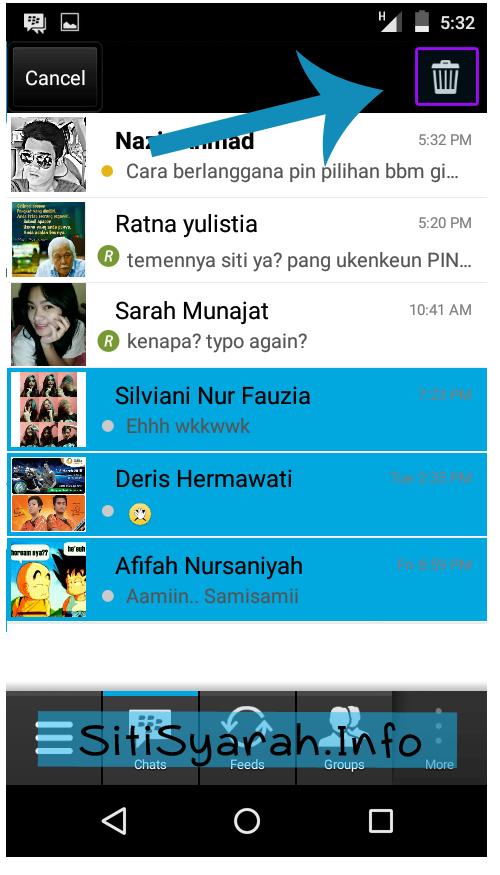 Hapus Chat BBM sekaligus