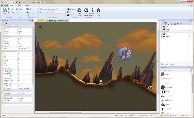 Construct 2 أداة ممتازة لصنع الألعاب