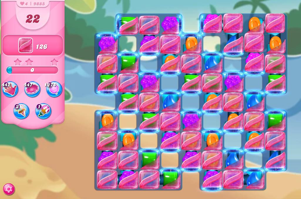 Candy Crush Saga level 9885