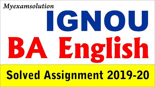 ignou, ignou ba english solved assignment, ignou ba english