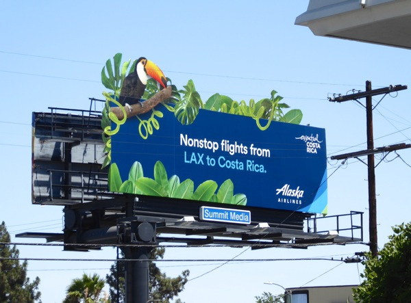Alaska Airlines Toucan Costa Rica billboard