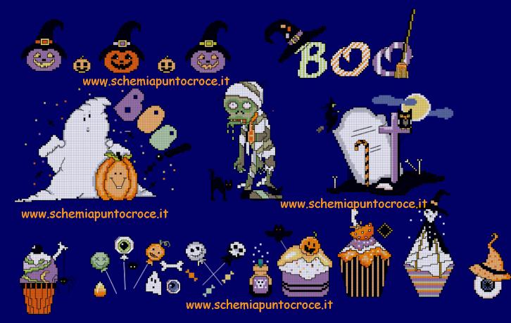 Gli schemi da non perdere per il punto a croce a tema Halloween