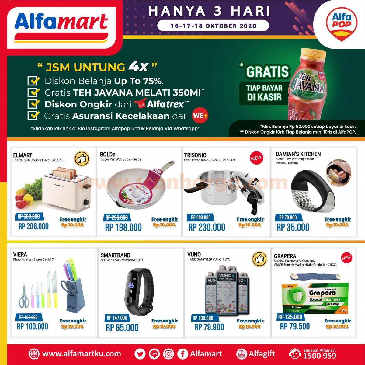 Alfamart Promo Jsm Alfapop 3 Hari 16 - 18 Oktober 2020