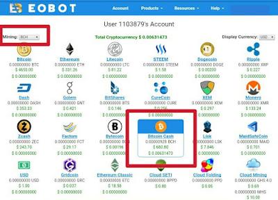 Cara Nambang Bitcoin Cash (BCH) Otomatis di Eobot