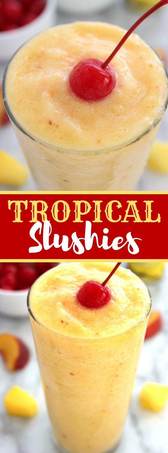 TROPICAL SLUSHIES #smoothies #drinks