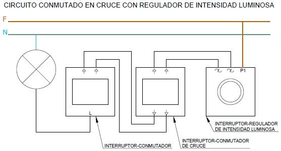 Fp e ingenier a el ctrica punto de luz con regulador de for Interruptor regulador de luz