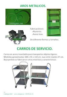 Aros Metalicos, Carros de servicio inox.
