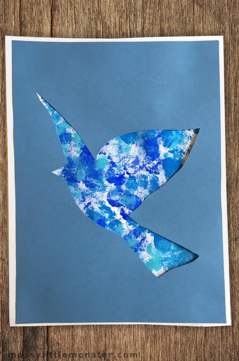 Rene Magritte bird craft for kids