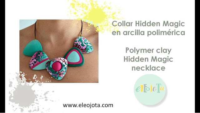 collar hidden magic arcilla polimerica