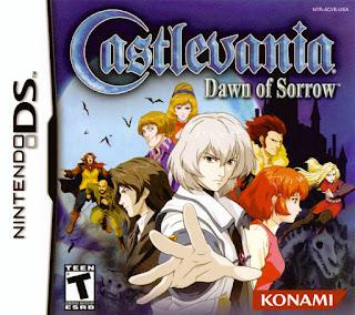 Portada del cartucho de Castlevania: Dawn of Sorrow para Nintendo DS, Konami, 2005