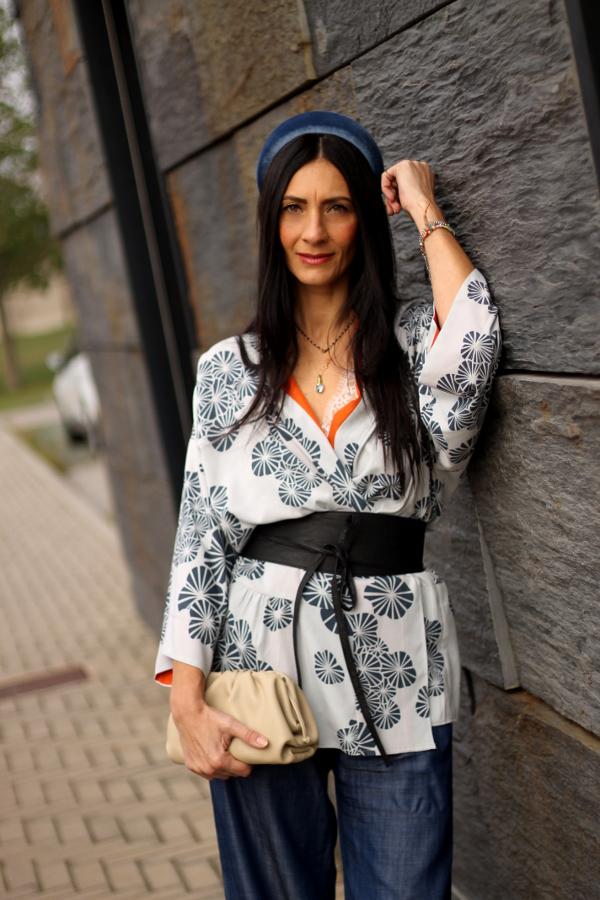themorasmoothie, fashion, fashion blogger, kimono, accessori capelli, bag, borsa, bottega veneta, new bottega, paola buonacara, italian fashionblogger, fashionblogger italiana, style, fashion style, milano fashion week, come indossare giacca kimono