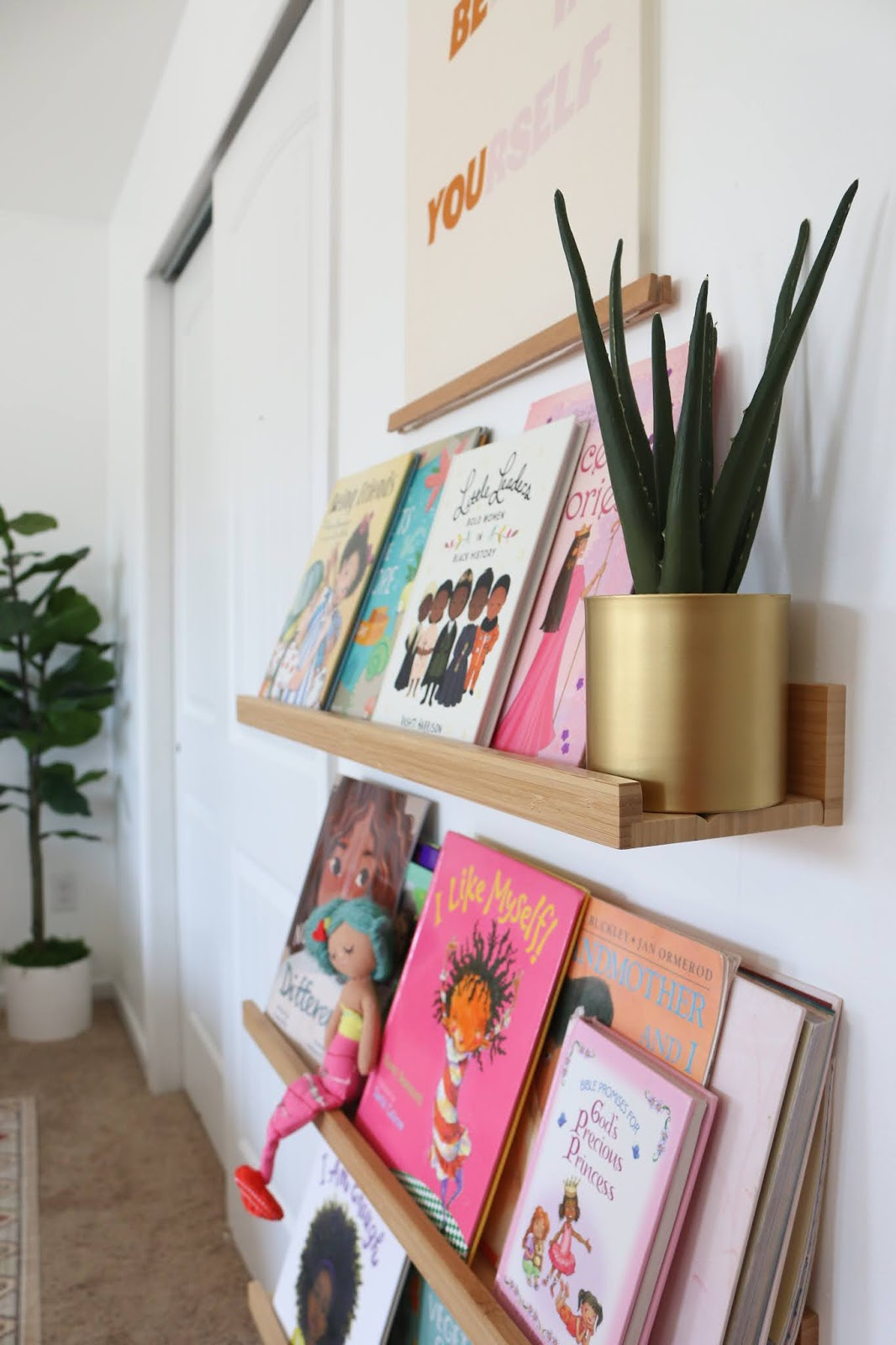 Book Ledges for a Shared GIrls' Room