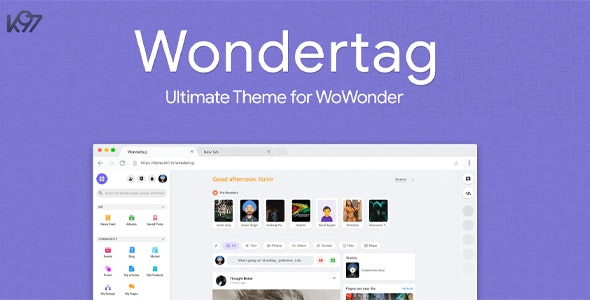 Wondertag v1.3.1 - The Ultimate WoWonder Theme