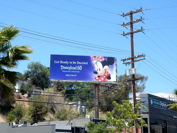 Minnie Mouse dazzled Disneyland 60 billboard