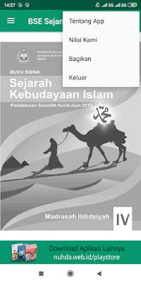 Screenshoot Aplikasi Android Buku Siswa SKI (Sejarah Kebudayaan Islam) Kelas 4 MI Kurikulum 2013 Revisi 2014