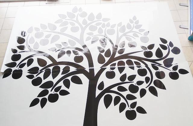 Stiker Pohon Dinding Transparan