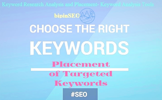 keyword research & analysis tool