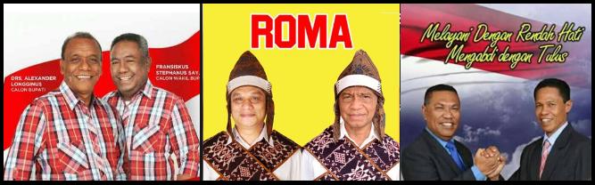 Tiga pasang calon Bupati dan wakil Bupati Kabupaten Sikka 2018