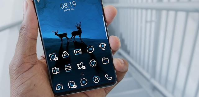 قم بتنزيل SkyLine Icon Pack: LineX Blue Edition لتخصيص هاتفك الاندرويد