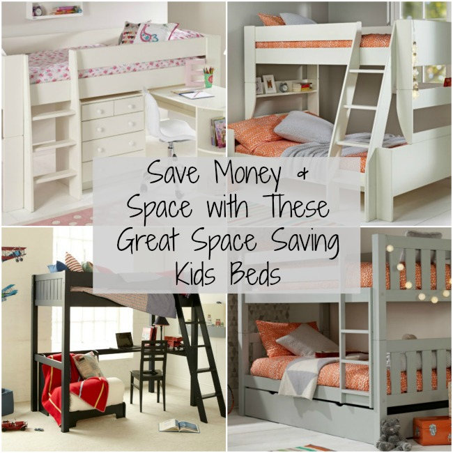 Save-Money-&-Space-with-These-Great-Space-Saving-Kids-Beds-text-over-images-of-beds