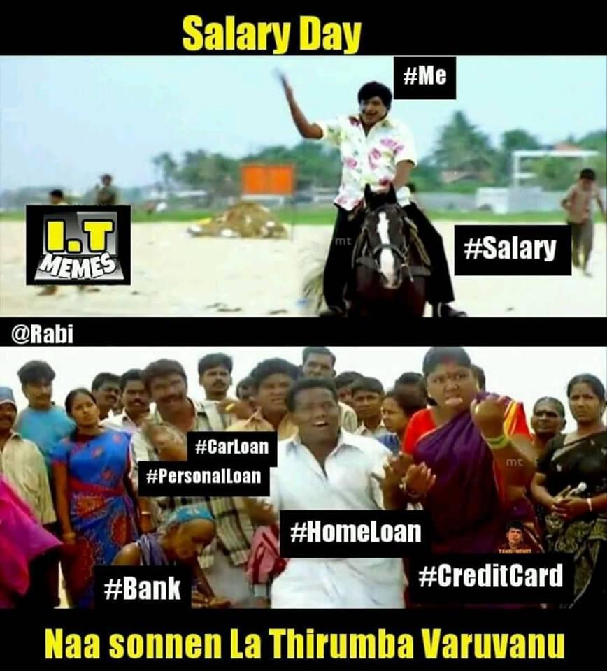Salary day tamil memes