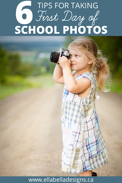 First Day of School Photo Tips