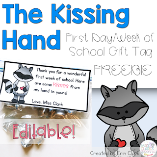 the kissing hand gift tag