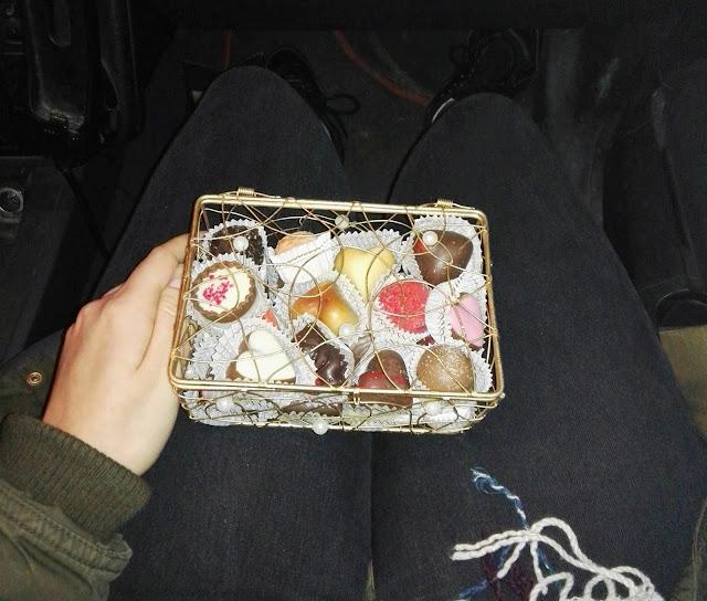 Pralinki czekoladowe z malinami -  idealne na Walentynki