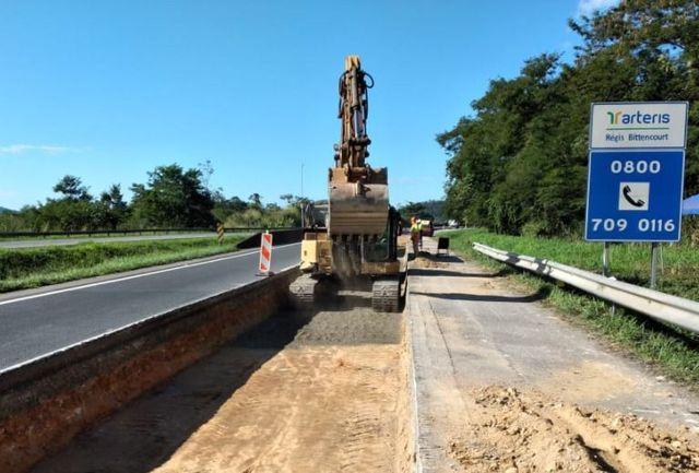 Concessionária segue com investimentos no pavimento da Régis Bittencourt