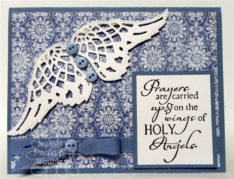 Stamps - Our Daily Bread Designs Holy Angels, ODBD Christian Faith Paper Collection, ODBD Custom Angel Wings Die.