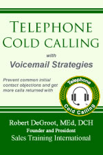 Telephone Cold Calling with Voicemail Strategies book cover