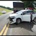 Acidente entre carro e caminhão deixa três feridos em Chopinzinho