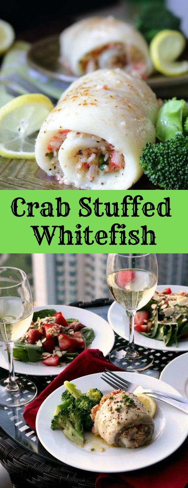 Crab Stuffed Whitefish #FISH #SEAFOOD #GLUTENFREE #LOWCARB