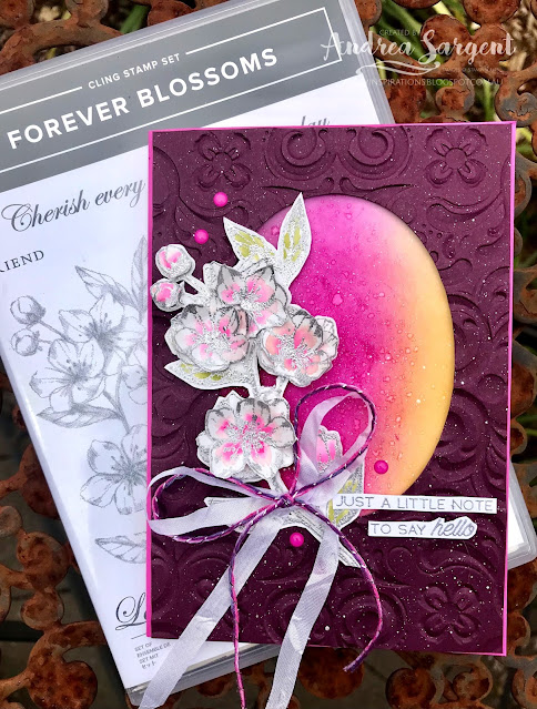 Magenta Madness Forever Lovely Stampin Up card, Andrea Sargent, Independent Stampin' Up! Demonstrator, Valley Inspirations, Adelaide foothills, Australia