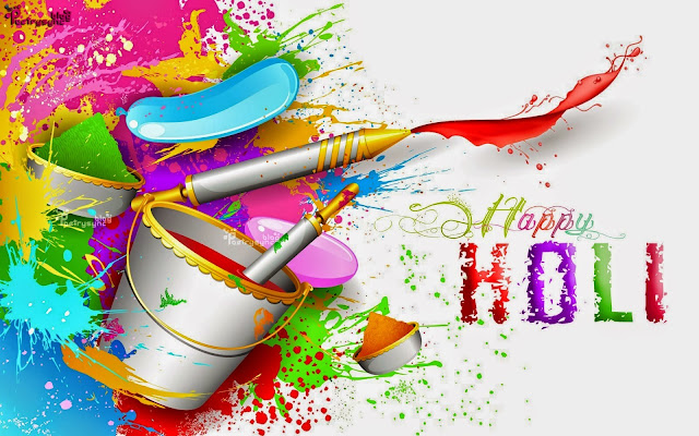 3D Holi Wallpaper for Facebook