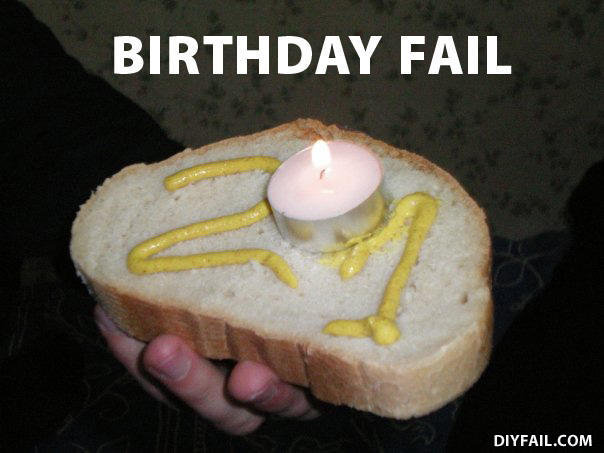 birthday fail cake