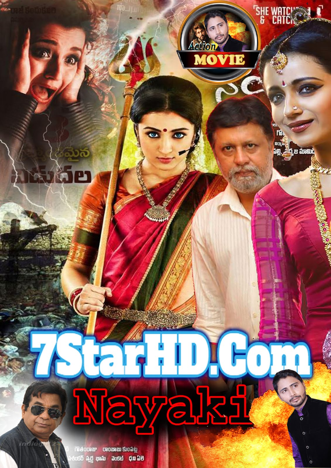 Nayaki 2018 Hindi Dubbed Full Movie HDTVRip 1GB & 300MB Download
